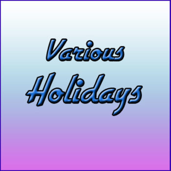 VARIOUS HOLIDAYS (by category)
