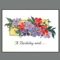 454 Flower Panel Birthday