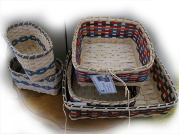 Baskets in shop