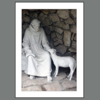 MH-00103  Close-up of Francis in Grotto
