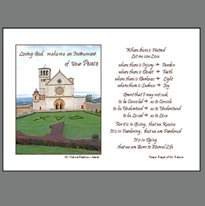 Assisi-022B  Peace Prayer of St Francis