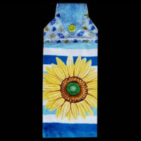 T-SF-019  Single Sunflower with Blue
