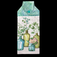 T-GN-001  Teal/Olive Green Foliage in Bottles