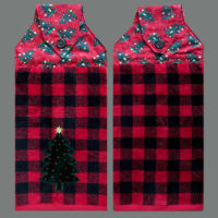 T-CHRS-110 Christmas on Red Plaid – Pair